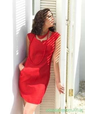 Женское платье из натурального льна!