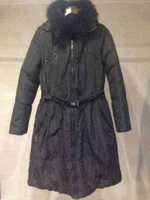 пальто кожа Пуховое пальто,новое