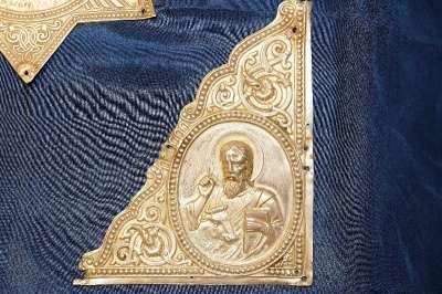 Серебряные накладки для Евангелия. 19 в. мастер Виктор Аарне, Фабе
