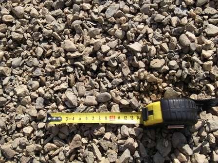 Щебень твёрдый бетонный фр. 5-20 с доставкой по Анапе