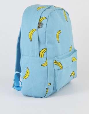 Рюкзак городской голубой бананы Banana