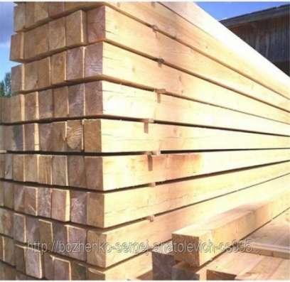 Обрезной материал из хвои, сорта 1 и 2 (брус, доска)