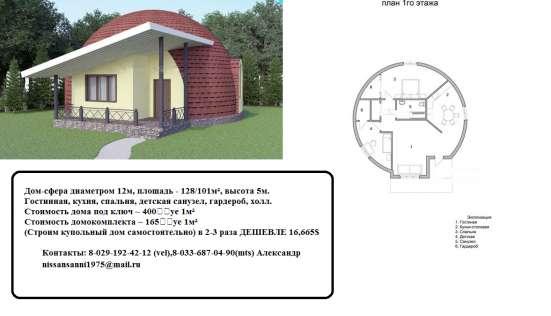 Дом по цене автомобиля (185 у.е. за кв. м).