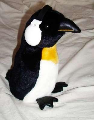 Пингвин – усилитель, танцует под музыку 24 см плюшевый