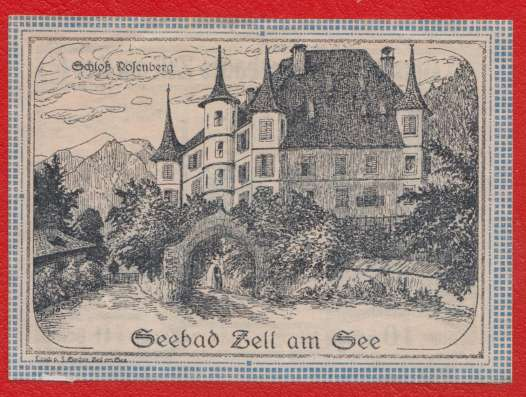 Австрия Нотгельд Цель-ам-Зе 10 хеллеров 1920 г.