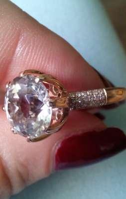 Супер кольцо золото бриллиант большой топаз 4.5 кт