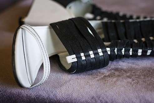 Туфли чёрно-белые
