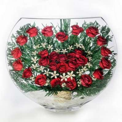 Композиции из живых цветов в стекле на 5 лет ! в Москве Фото 2