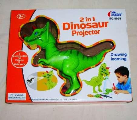 Проектор Динозаврик 3 в 1 учимся рисовать