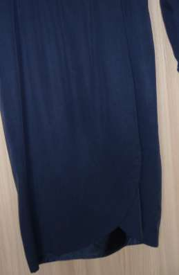 Платье синее с запа'хом, р-42(44)