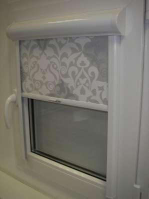 Рулонные шторы УНИ на ПВХ окна в Москве Фото 1