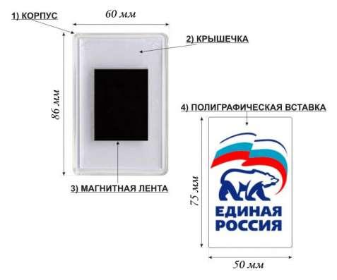 Заготовки акриловых магнитов РУССКОГО РАЗМЕРА