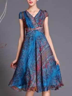 Шифоновое платье, 52 размера в Новосибирске Фото 4
