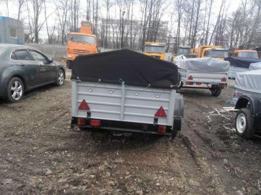 Прицеп для легкового автомобиля с V образным дышлом 2150х1300 с тентом и дугами