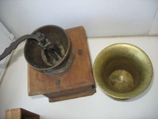 Старинная кофемолка и ступа. Бронза в Москве Фото 1
