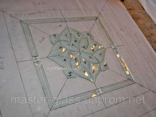 Фацетные элементы толщиной стекла 5 мм