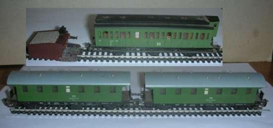 Железная дорога гдр 12мм разное