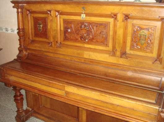 Старинное немецкое пианино(антиквар),коричн. цвета с инкруст в Перми Фото 2