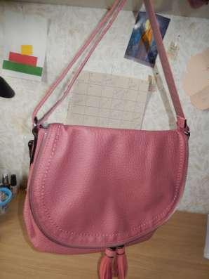 Новая сумка терракотово-розового цвета