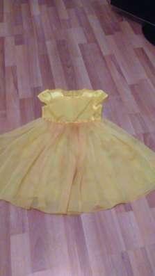 Платье желтое на 5 лет