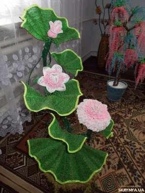 Лилия из бисера большая в г. Калиновка Фото 1