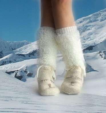 """Вязаные носки Мечтательные овечки"""""""