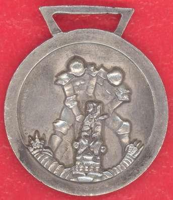 Итало-германская медаль Африканской компании серебрение в Орле Фото 4