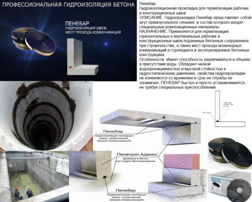 Гидропрокладка Пенебар представляет собой жгут прямоугольног