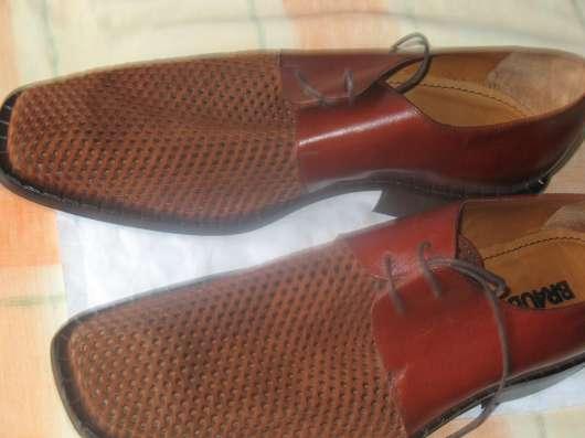 Мужские кожаные ботинки элитного бренда BRAUDE Италия в Москве Фото 6